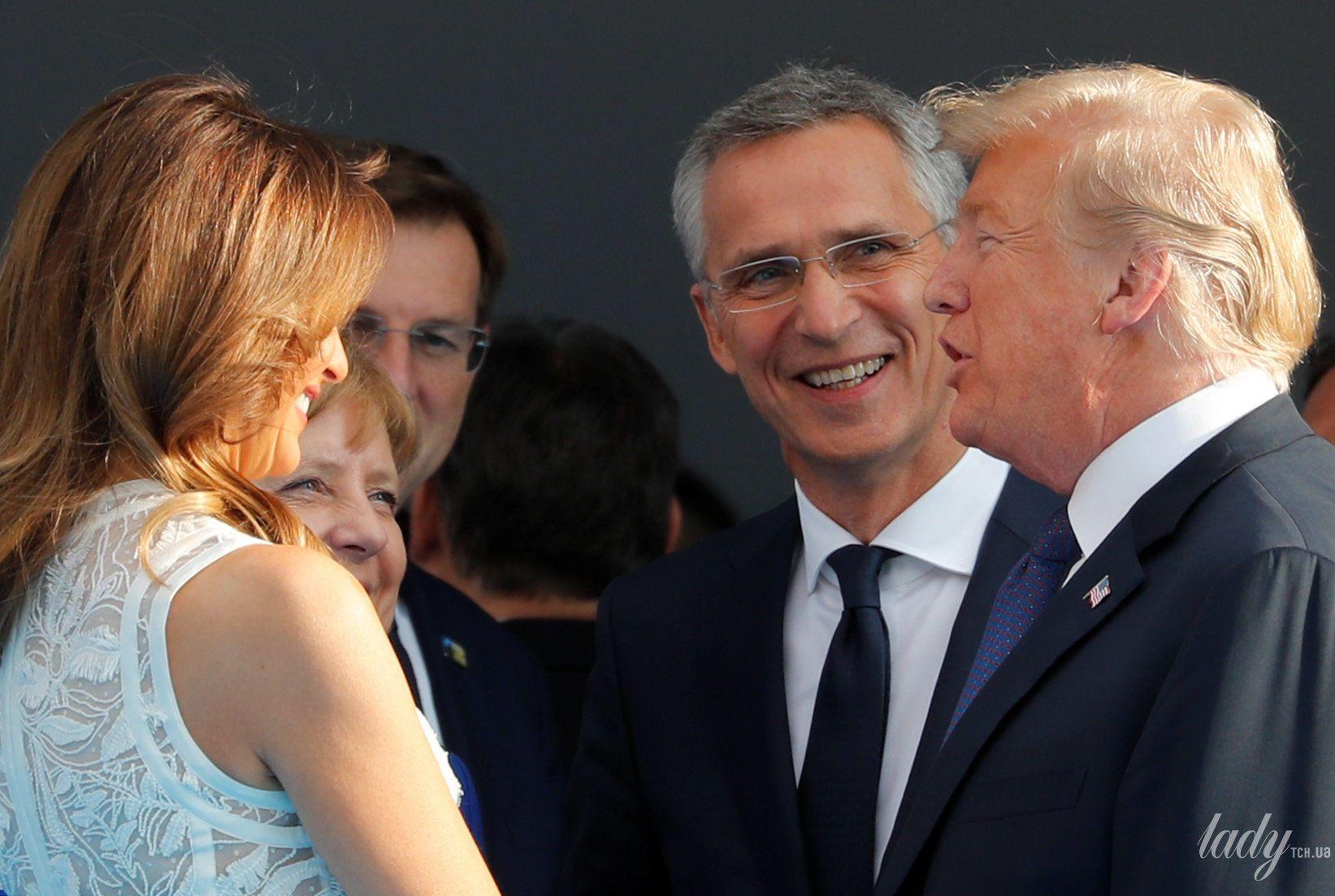Мелания Трамп на саммите НАТО_8