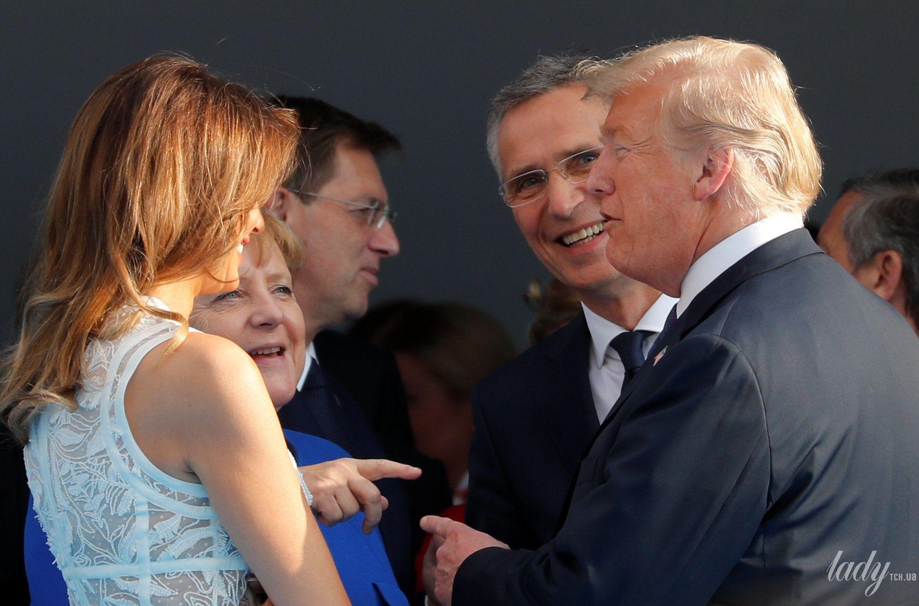 Мелания Трамп на саммите НАТО_3