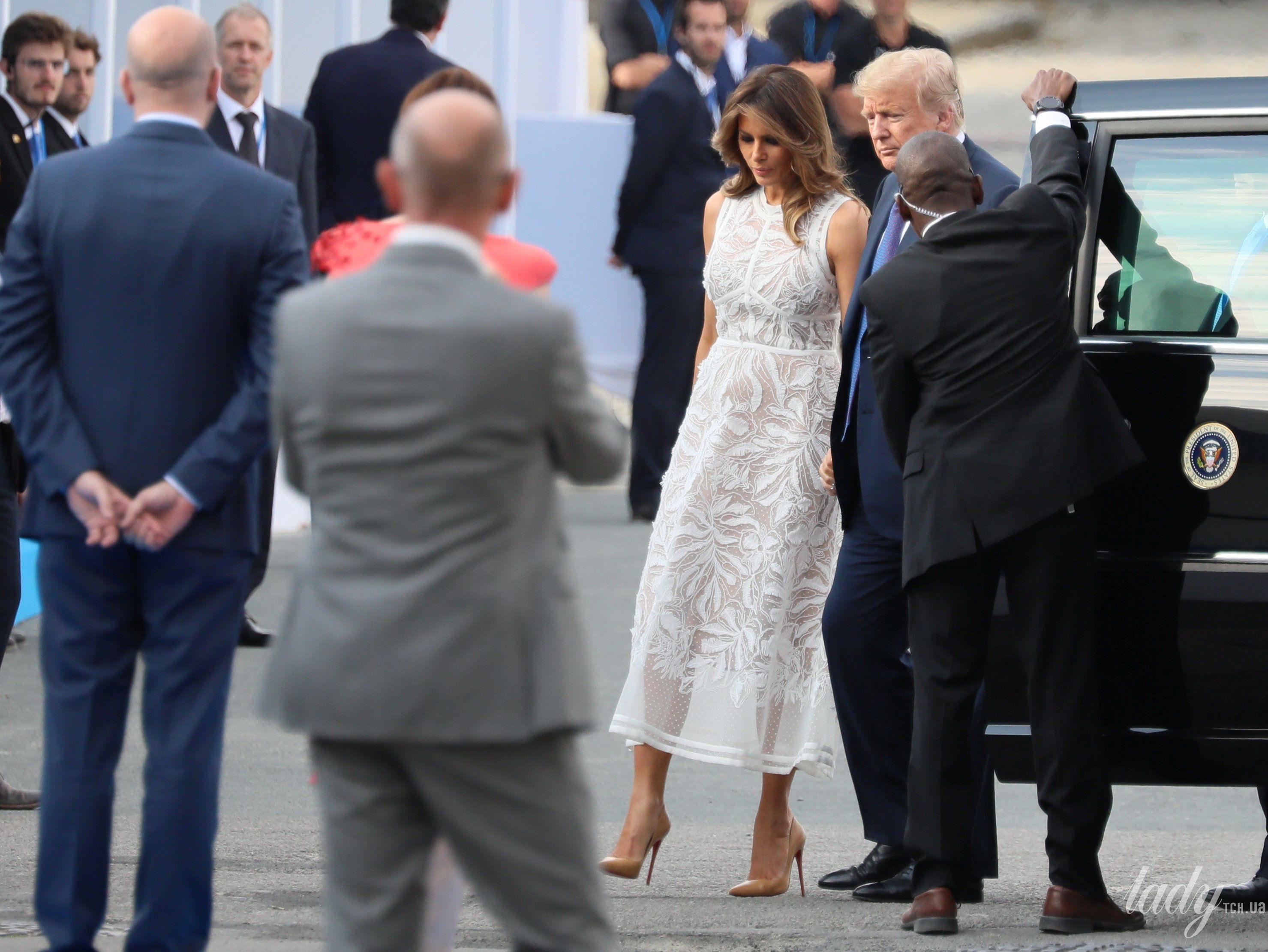 Мелания Трамп на саммите НАТО_4