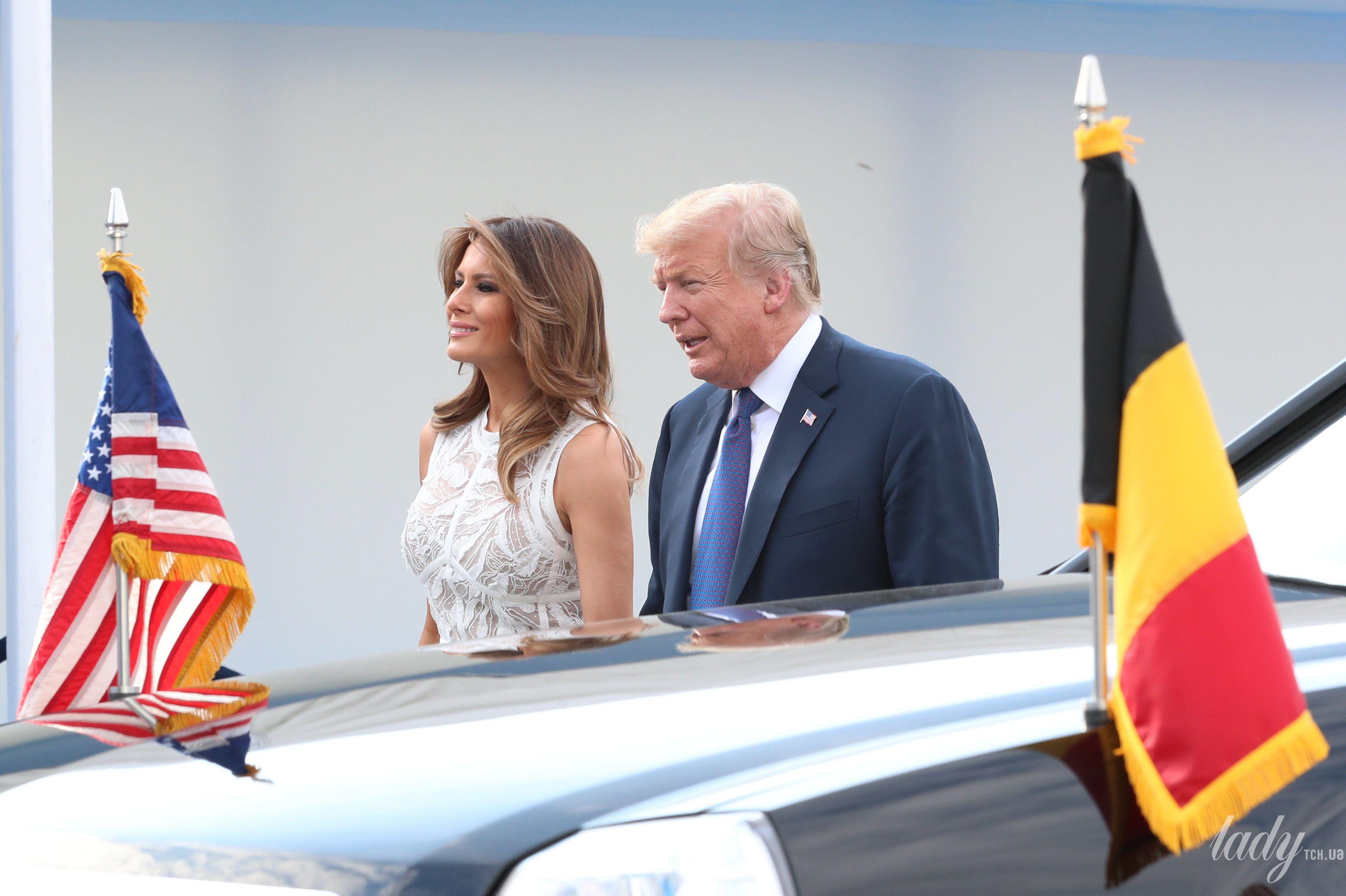 Мелания Трамп на саммите НАТО_5