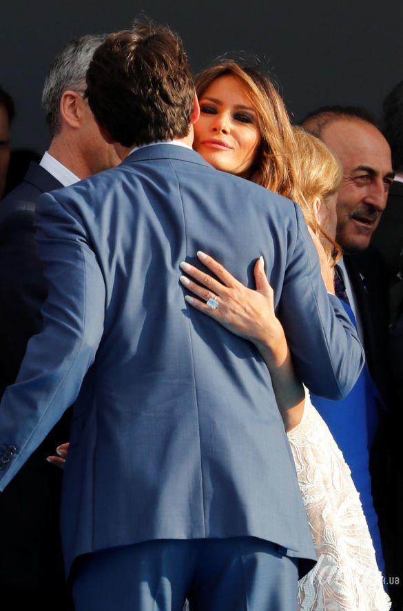 Мелания Трамп на саммите НАТО_14