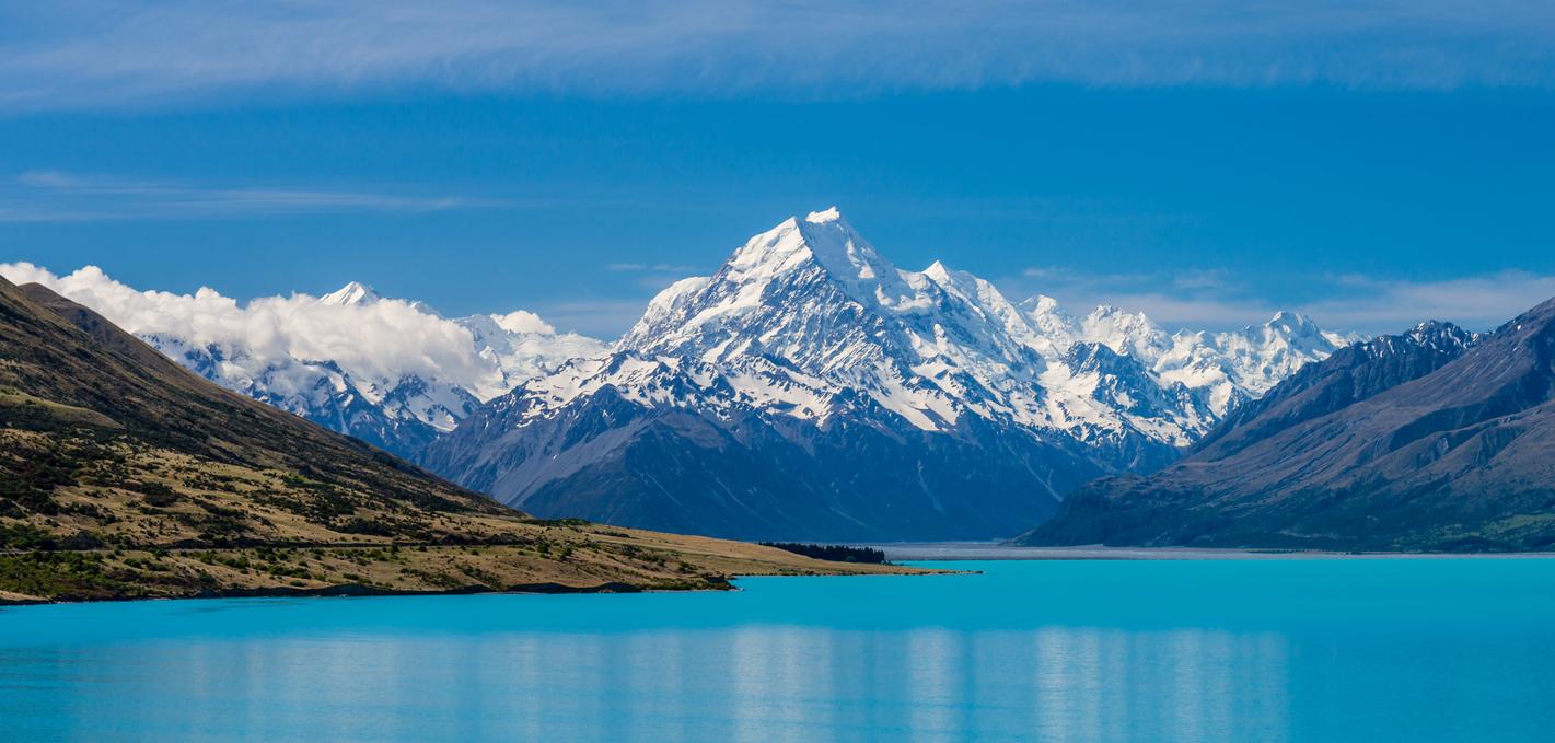 Нова Зеландія, озеро Пукакі, гора Кука