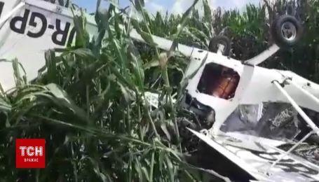 На Сумщине упал легкомоторный самолет