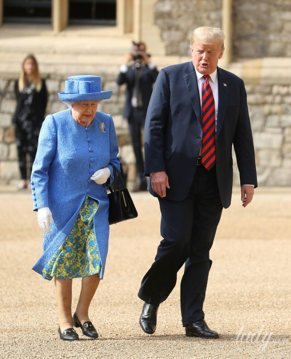 Королева Елизавета II, Мелания Трамп и Дональд Трамп_6