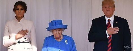 Элегантная королева и красивая Мелания: Елизавета II встретилась с Трампами