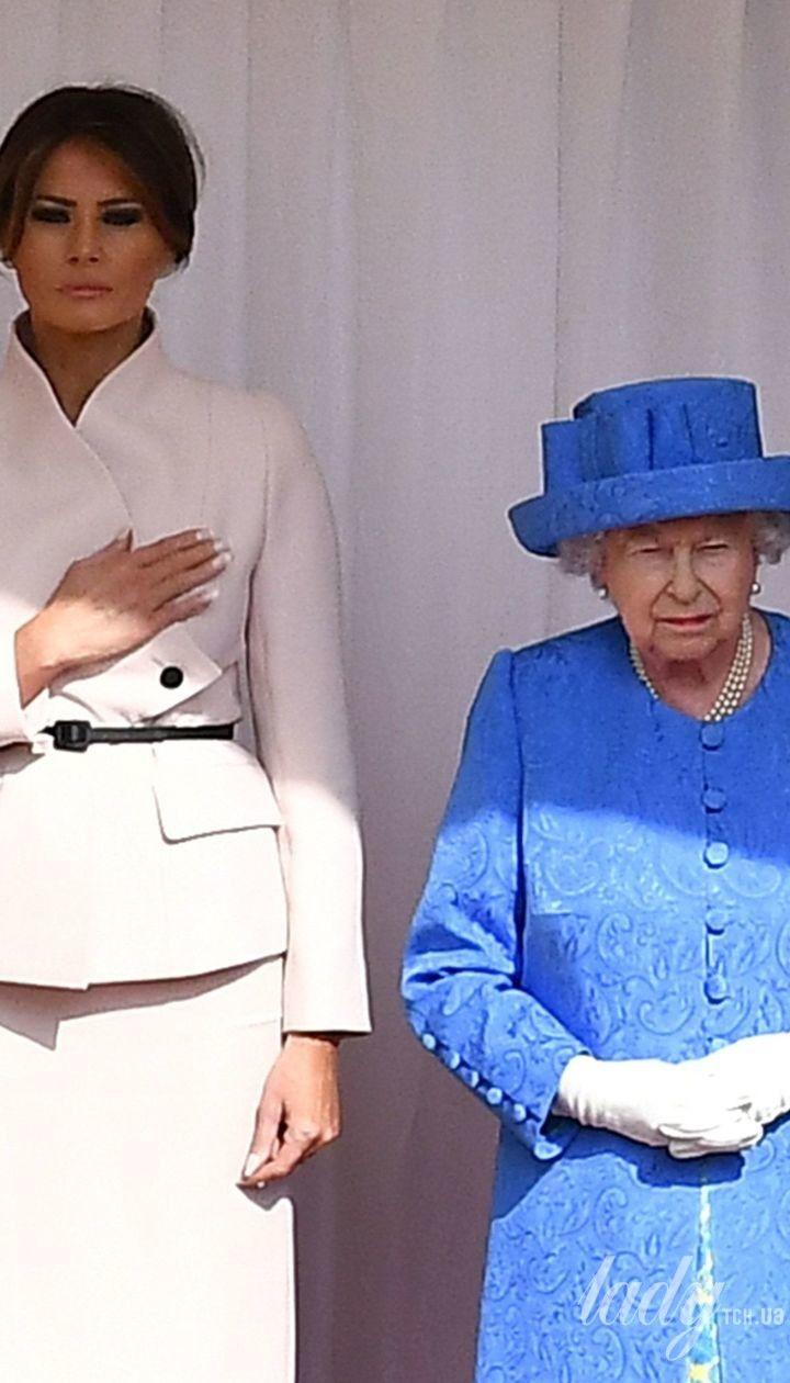 Элегантная королева и красивая Мелания: Елизавета II встретилась м Трампами