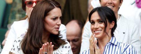 Несподіваний вихід: стильні герцогиня Кембриджська Кетрін і герцогиня Сассекська Меган відвідали фінал Вімблдонського турніру