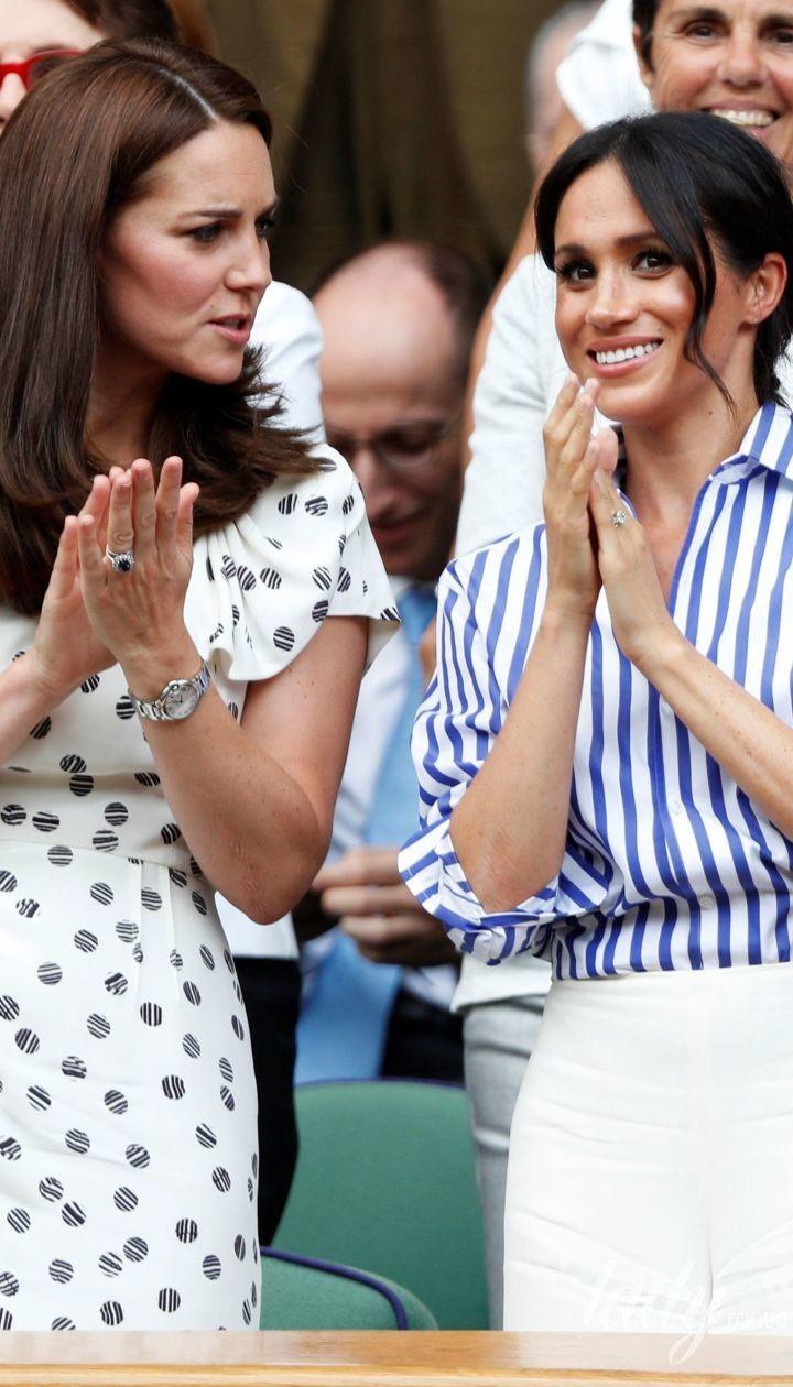 Неожиданный выход: стильные герцогиня Кембриджская Кэтрин и герцогиня Сассекская Меган посетили финал Уимблдонского турнира