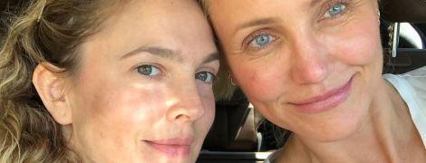 """""""Ангели Чарлі"""" - Беррімор і Діас, продемонстрували обличчя без макіяжу"""