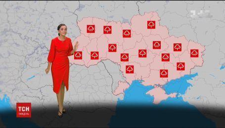 Синоптики прогнозують наступного тижня короткотривалі зливи на всій території України