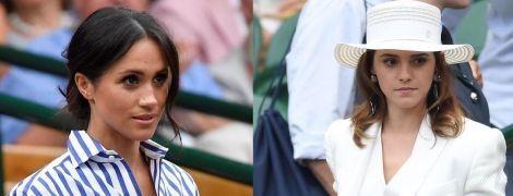 В белых широких брюках: битва образов герцогини Сассекской Меган и Эммы Уотсон