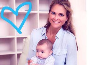 В повседневном наряде и с улыбкой: принцесса Мадлен показала четырехмесячную дочь