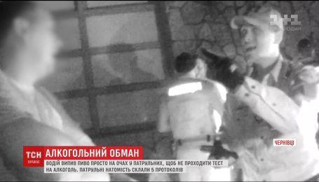 Водитель выпил пиво на глазах у полицейских, чтобы не проходить тест на алкоголь