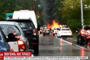"""""""Вогняну"""" ДТП біля Києва могла спричинити неправильна розмітка"""
