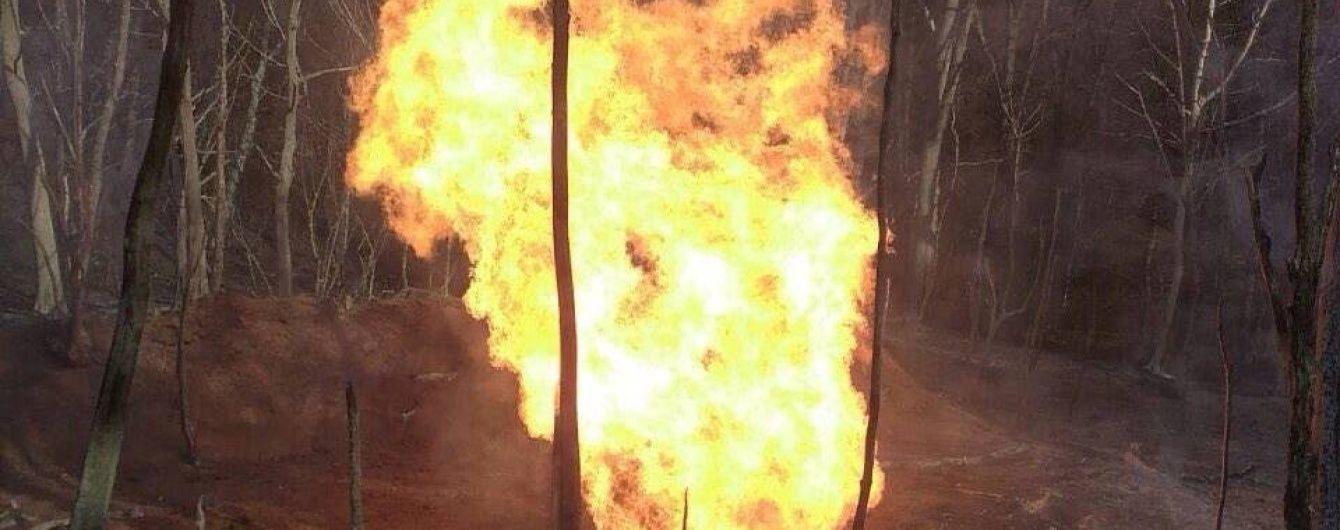"""На Закарпатті вибухнув і палає магістральний газопровід """"Союз"""""""