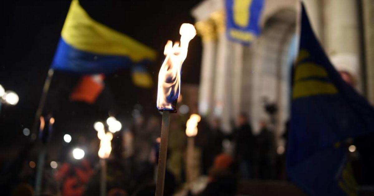 Смолоскипна хода у Києві. @ Громадське ТБ