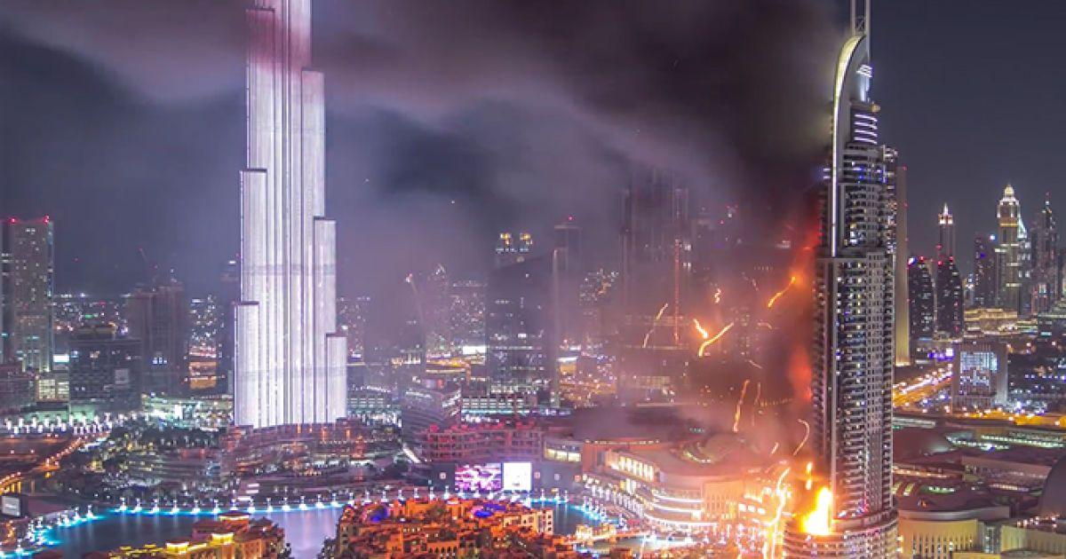 Дубай пожар в небоскребе видео дубай недвижимость от застройщика