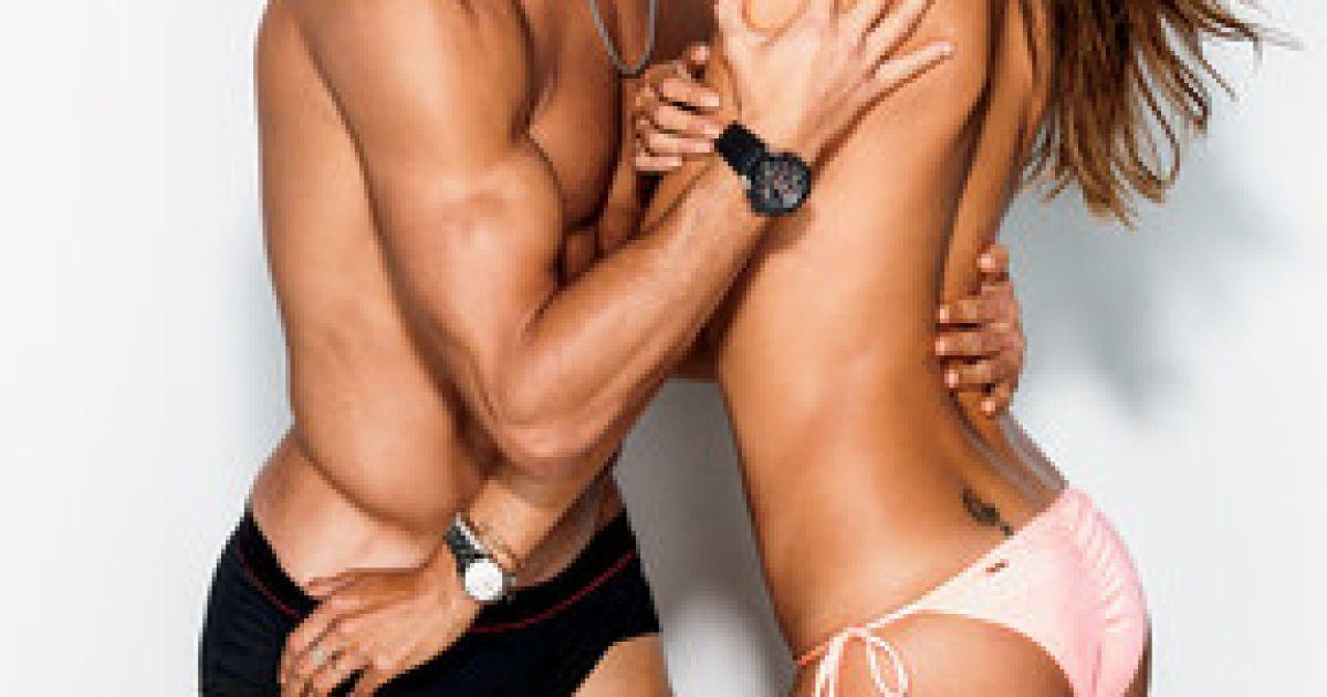 Кріштіану Роналду і Алессандра Амбросіо у фотосесії для журналу GQ США. @ gq.com