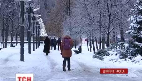Днепропетровск превратился в каток
