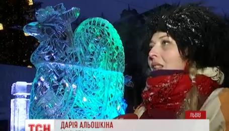 У Львові відкрили виставку льодових скульптур