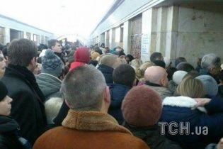 В Киеве из-за пожара закрыта станция метро