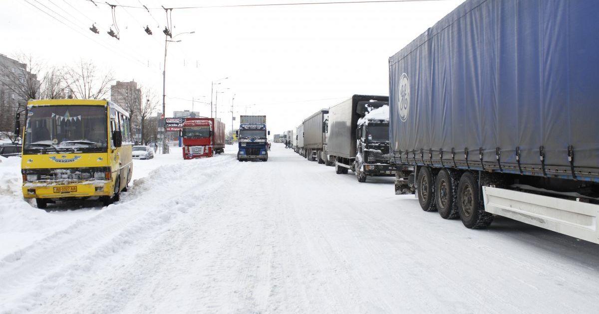 Грузовикам запретили въезд в Кременчуг и Кропивницкий