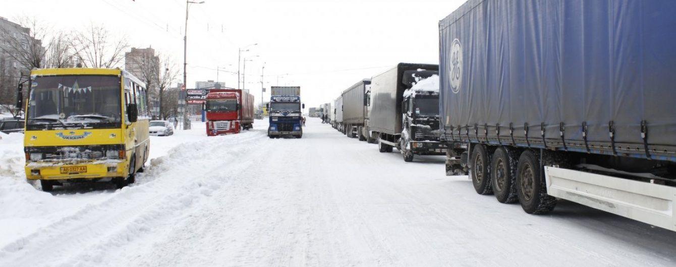 Вантажівкам заборонили в'їзд до Кременчука та Кропивницького
