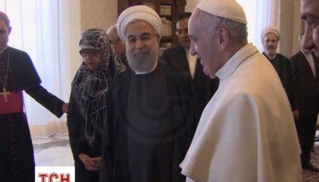 Папа Римський зустрівся у Ватикані з президентом Ірану