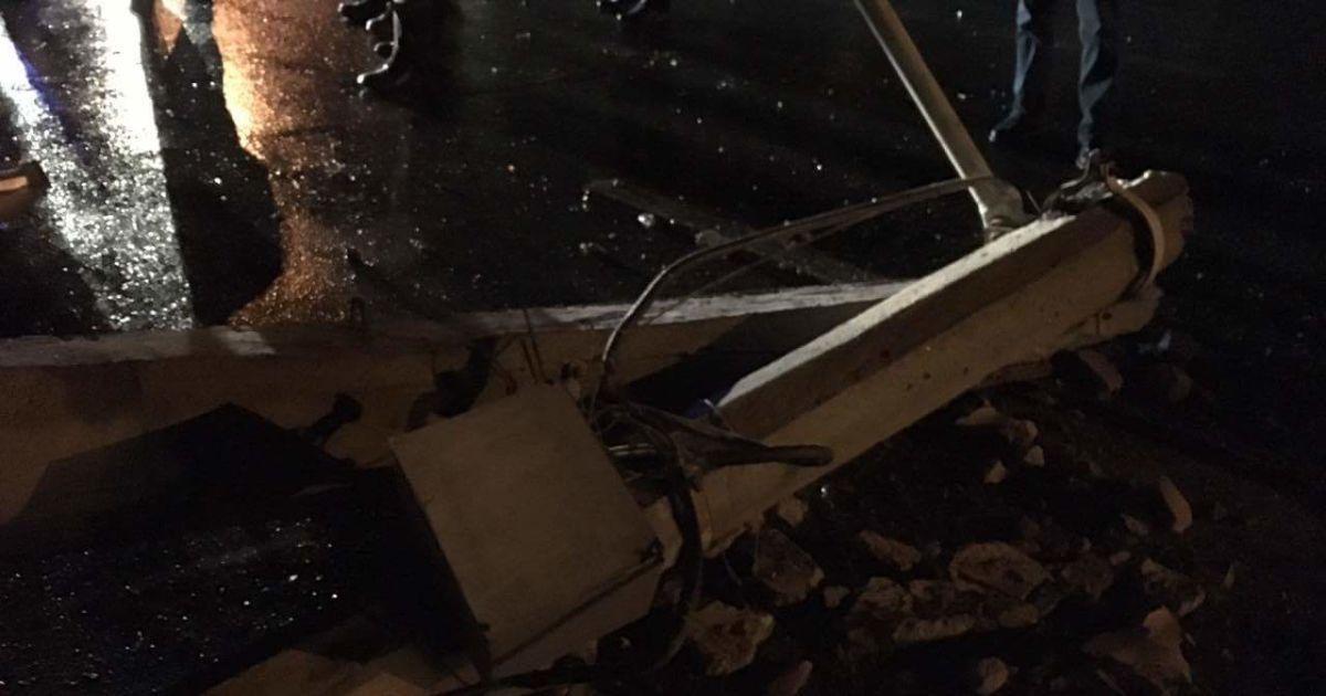 Аварія сталася на столичній Оболоні увечері 28 січня @ Фото Валерії Ковалінської/ТСН