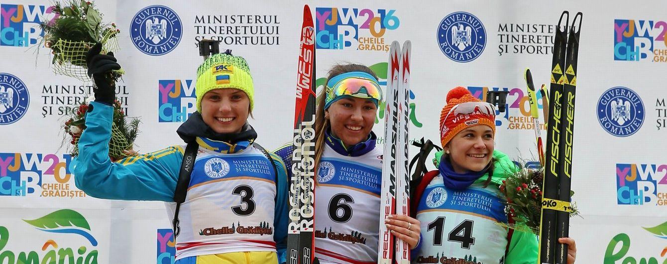 """Українка виграла """"срібло"""" в гонці переслідування юніорського чемпіонату світу з біатлону"""