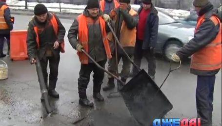 Где в Киеве асфальт сошел вместе со снегом