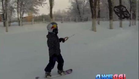 Как покататься на сноуборде с помощью дрона