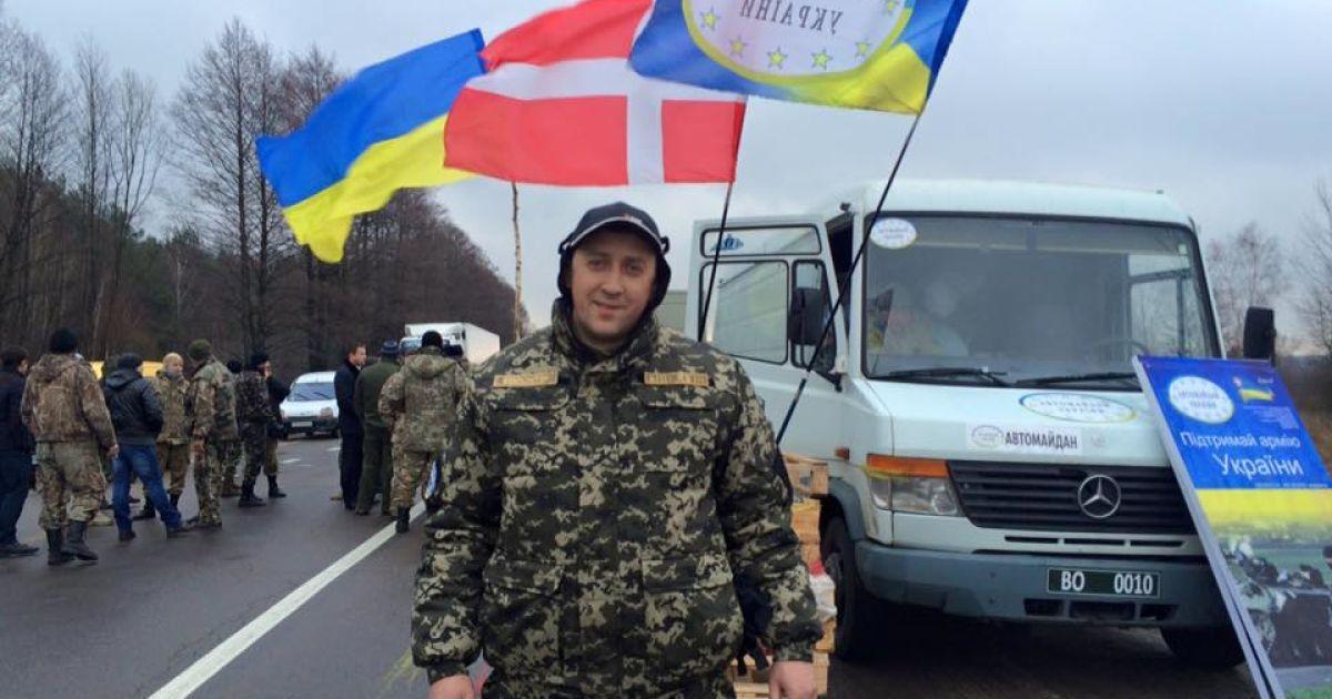 На Волині активісти блокують груз вантажівок із РФ @ facebook/Vasylenko Dmytro