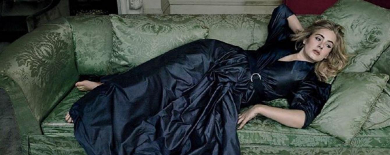 Женственная Адель позировала в роскошных нарядах в фотосете для Vogue