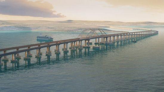 Окупанти добудували залізничну частину Кримського моста
