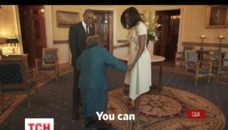 106-летняя женщина станцевала с Бараком и Мишель Обамой
