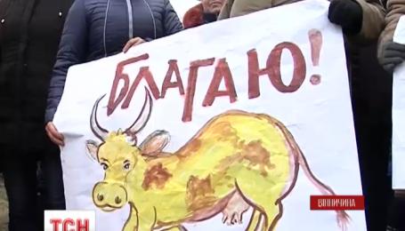 На Вінниччині люди відмовляються здавати молоко за безцінь