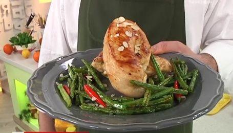 Рецепт курицы с миндалем и сыром от Руслана Сеничкина