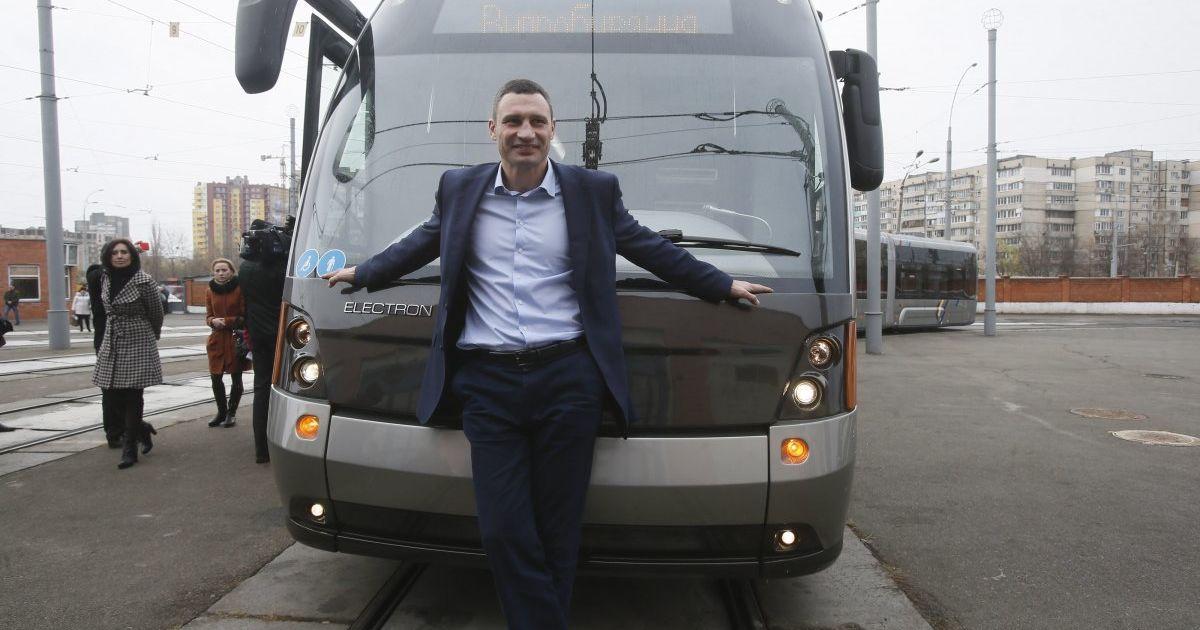 Трамваи с WI-FI и еще больше парков. Что наобещал Кличко