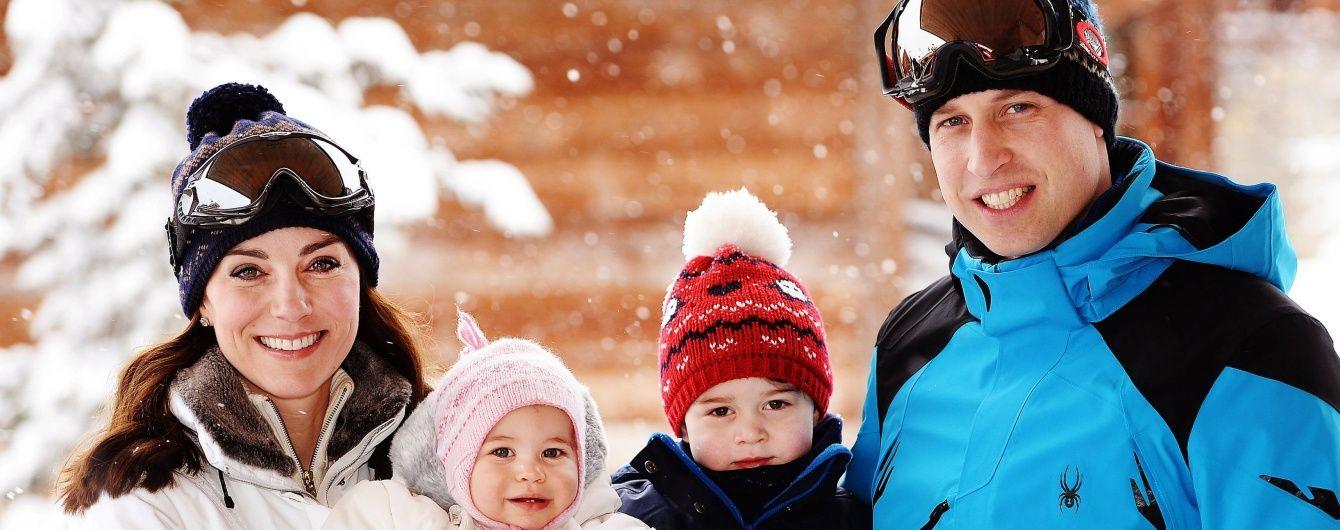 Зимний отдых весной: Кембриджи с детьми отдохнули в Альпах