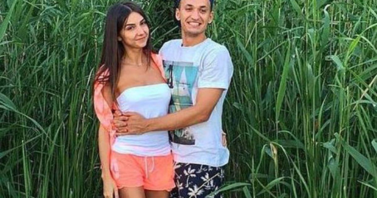 Євген Макаренко з дівчиною Тетяною. @ facebook.com/fcdynamoua