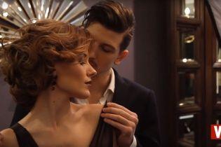 Влюбленные Эрика и Сергей Середа нежно обнимались во время романтической фотосессии