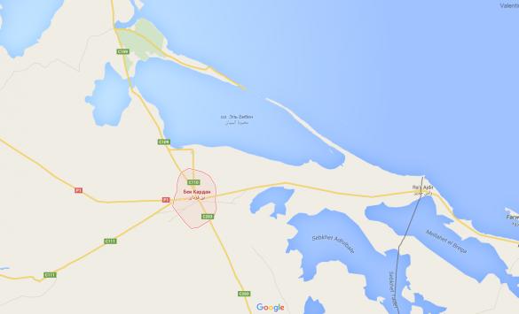 карта Туніс