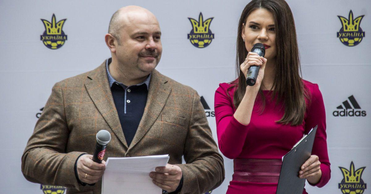 Ведучі заходу Олександр Гливинський і Олександра Лобода.   Фото - Надія Мельниченко