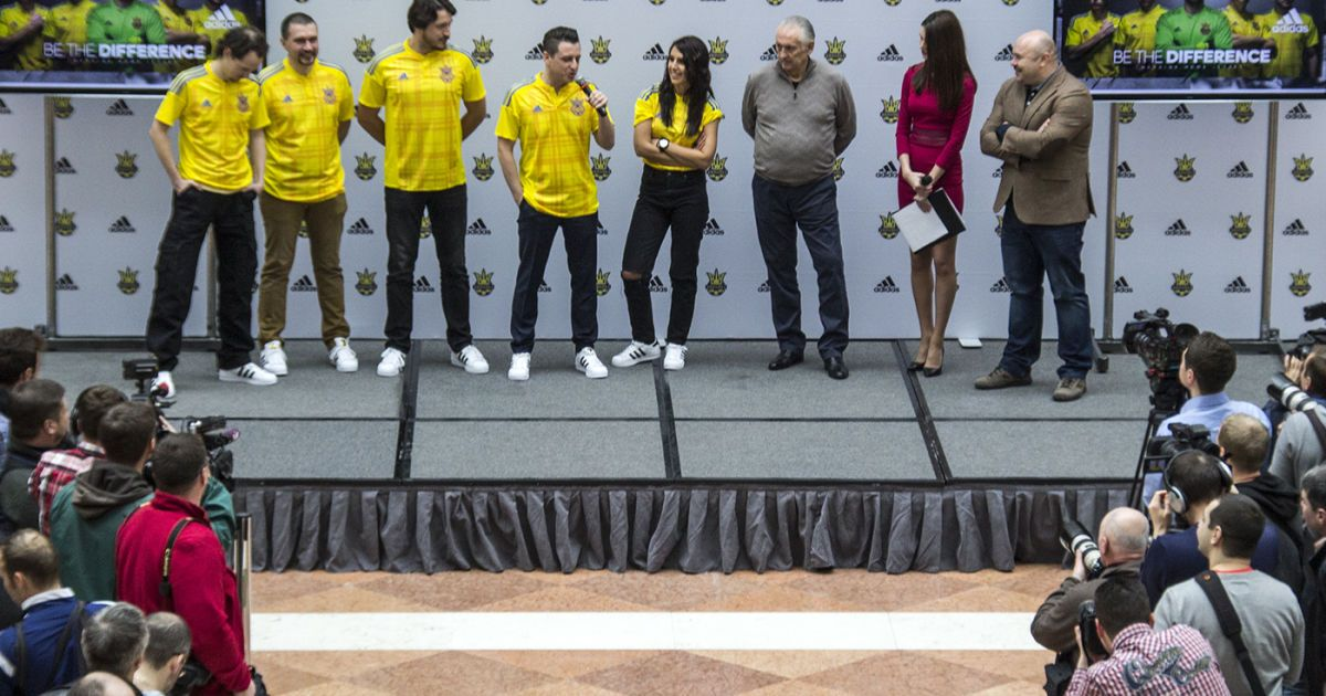 Презентація форми збірної України з футболу на НСК Олімпійський.   Фото - Надія Мельниченко