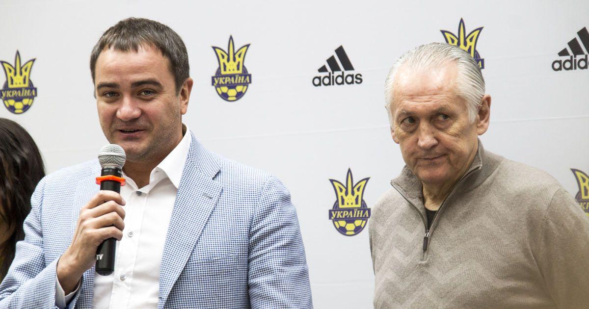 Андрій Павелко та Михайло Фоменко.   Фото - Надія Мельниченко