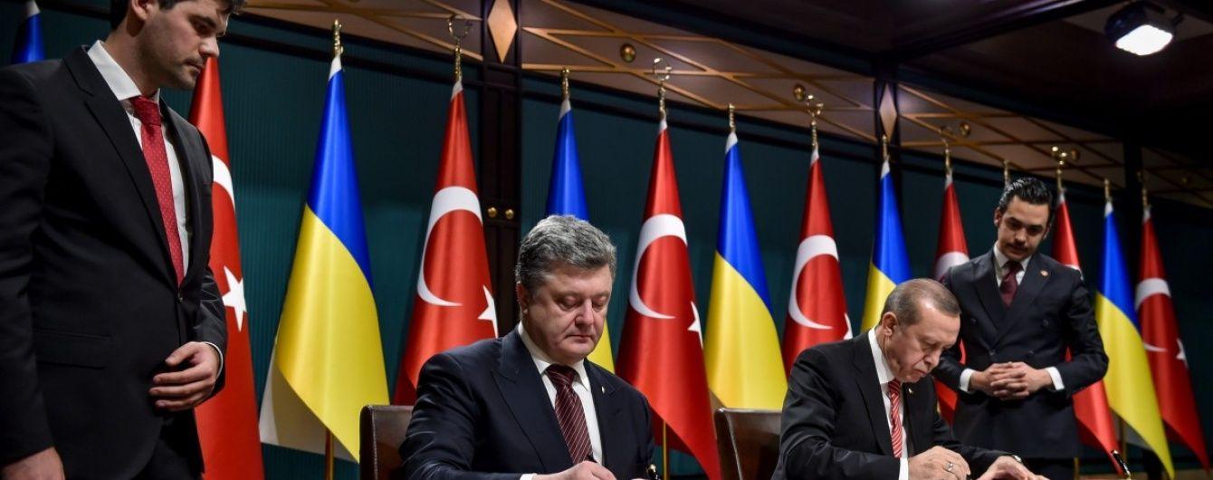 Україна і Туреччина до кінця 2016 року мають домовитися про зону вільної торгівлі