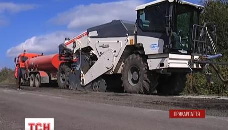Жители горных районов Прикарпатья возмущены качеством отремонтированной центральной дороги