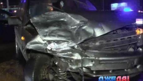 Пьяница в Киеве разбил три автомобиля