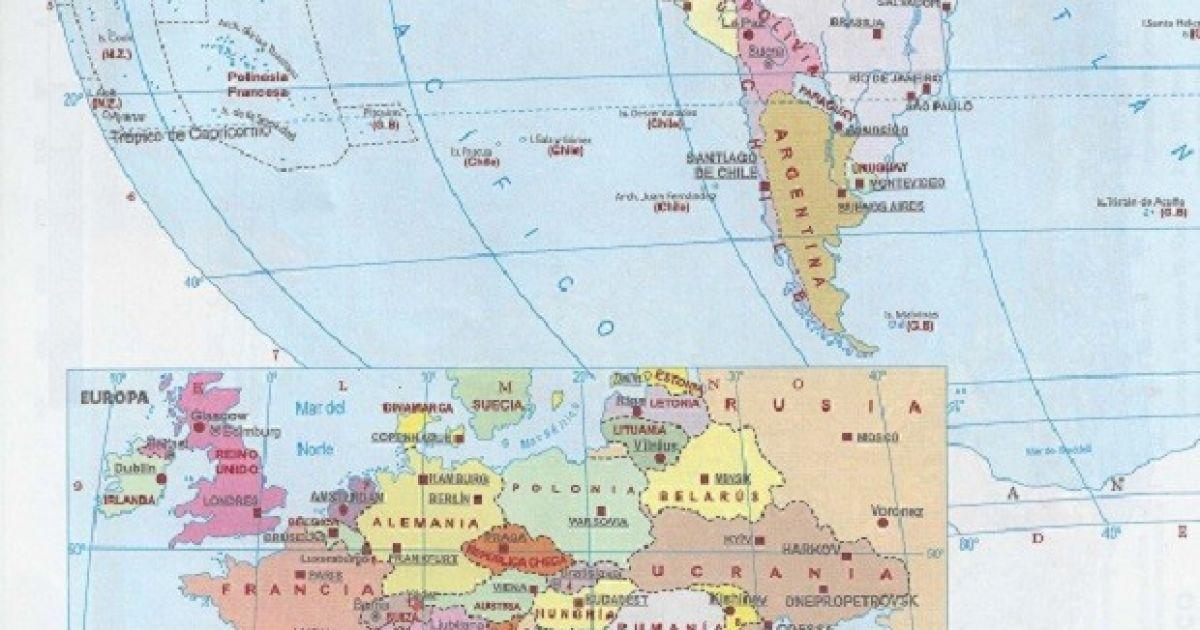 Політична карта світу в підручнику на Кубі @ УНІАН